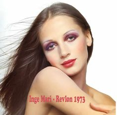 Ingmari Lamy – 1974 Make-up by Revlon for Revlon Europe Advertising Campaign Photo by Gian Paolo Barbieri 1970s Makeup, Retro Makeup, Old Makeup, Vintage Makeup, Hair Makeup, Revlon, 70s Hair, Vintage Trends, Beauty Shots