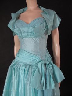 Sophisticated 1950's Shelf Bust Cocktail / Party Dress