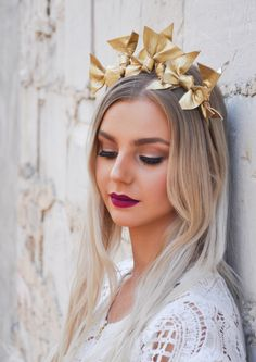A personal favourite from my Etsy shop https://www.etsy.com/au/listing/398883803/gold-vixen-racing-fashion-headpiece