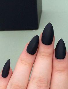 черные стилеты, длинные ногти, стиль, острые ногти, гель лак, наращенные ногти, nail art, nails