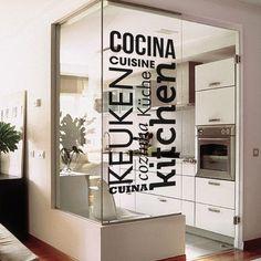 Vinilo decorativo especial para cocina http://masquevinilo.com/con-textos/961-vinilo-decorativo-kitchen.html