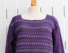 VÅRLI : Lilla heklegenser i eget design Pullover, Rose, Sweaters, Design, Fashion, Moda, Pink, Fashion Styles, Sweater