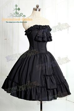 """Ghost Bride"": Classic Gothic Lolita Steel Boned Corset Bodice Dress&Cravat - fanplusfriend"