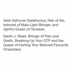 Throne of Glass series. Def breaking up my OTP </3