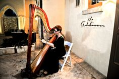 The Addison Courtyard in Boca Raton is such an ideal location for a wedding ceremony and reception with the Elegant Harp of Florida Harpist Esther Underhay @Theaddison @elegantharp #Floridaharpist #BocaRatonHarpist #lavishwedding