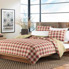 Eddie Bauer Ravenna Plaid 3-piece Reversible Quilt Set | Overstock.com Shopping - Great Deals on Eddie Bauer Quilts