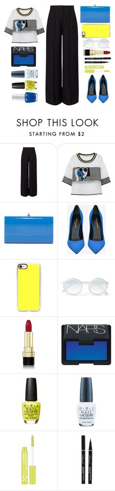 """neon"" by juliehalloran ❤ liked on Polyvore featuring Miss Selfridge, Valentino, Yves Saint Laurent, Casetify, Sunday Somewhere, Dolce&Gabbana, NARS Cosmetics, OPI and NYX"