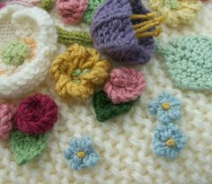 Flower patterns to knit