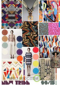 Mirella Bruno Print Design Project Direction Boards SS/2015.