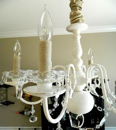 Diy brass chandelier makeover on the cheap chalk paint redeaux dining room chandelier minus the bling but like the chain cover painted chandelierdiy chandelierbrass chandelier makeoverdining aloadofball Choice Image