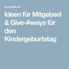 Ideen für Mitgebsel & Give-Aways für den Kindergeburtstag