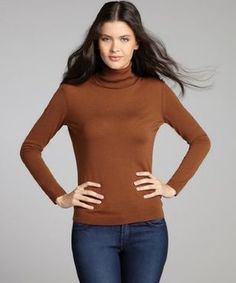 Lafayette 148 New York vicuna brown wool knit turtleneck top No Boys Allowed, Lafayette 148, Cozy Sweaters, Amazing Women, Must Haves, Turtle Neck, Turtleneck Top, Wool, Knitting