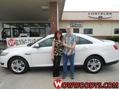 "Paula Kuschel from Carrollton, Missouri purchased this 2013 Ford Taurus and wrote, ""Cory is a very open, enthusiastic individual. Made our buying experience great!"" To view similar vehicles and more, go to www.wowwoodys.com today!"