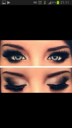 sweet Make-up! smokey eye done right! iv ALWAYS wanted to be able to do this!
