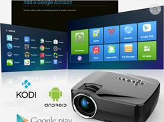 Full HD Wireless Bluetooth WiFi Android Home Theater Projector Cinema Cinema Projector, 3d Cinema, Portable Projector, Cinema Theater, Theatre, Android Video, Android Wifi, Home Theater Tv, Theater