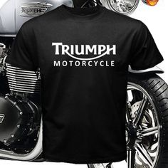 New TRIUMPH MOTORCYCLE Logo Men s Black T Shirt M L XL 2XL 3XL #FruitoftheLoom #BasicTee