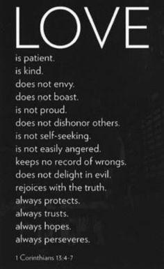 1 Corinthians 13 4-7