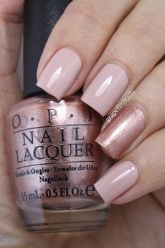 Hiya Dolls! I just can't get enough of the OPI Venice Collection (see my swatches of the full collection here). I have a quick accent mani to share with you today using Tiramisu for Two and Worth a P