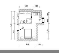 planos dormitorio y baño pequeños - Yahoo Image Search Results
