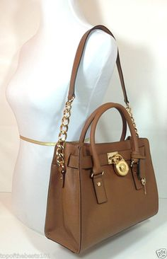 New Auth Michael Kors Hamilton E W Saffiano Leather Luggage Satchel