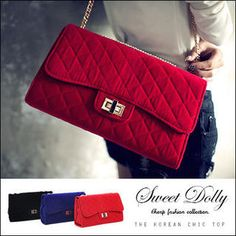 Twist-Lock Quilted Shoulder Bag from #YesStyle <3 Sweet Dolly YesStyle.com.au