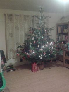 Tree eventually got decorated!