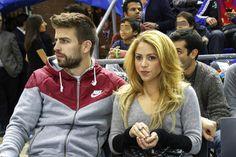 Shakira y Gerard Piqué, en el Palau Blaugrana