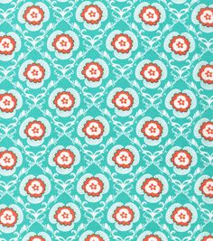 Keepsake Calico Fabric- Damask Turquoise - this one might be a bit too busy.