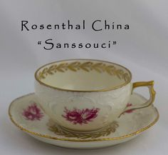 Rosenthal Pink Rose Demitasse Set Sanssouci Ornate by SimplyChina