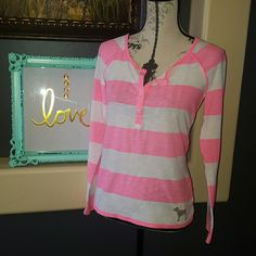 Spotted while shopping on Poshmark: 🍒 Hot PINK Victoria Secret Henley! #poshmark #fashion #shopping #style #PINK Victoria's Secret #Tops