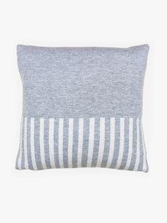 Stripe Cushion - Grey/Natural | Hello Polly