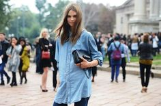 fashion denim oversized