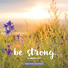 You therefore, my [child], be strong in the grace that is in Christ Jesus. 2 Timothy 2:1 (NKJV)