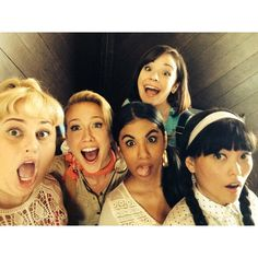 Pin for Later: Pitch Perfect 2: Check Out All the Behind-the-Scenes Fun  The Bellas, in a funny-face moment. Source: Instagram user therealannacamp
