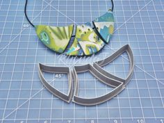 This unique set of polymer clay cutters will make a fantastic statement necklace! With 3 pieces that fit together, you'll be able to create stylish and  ...