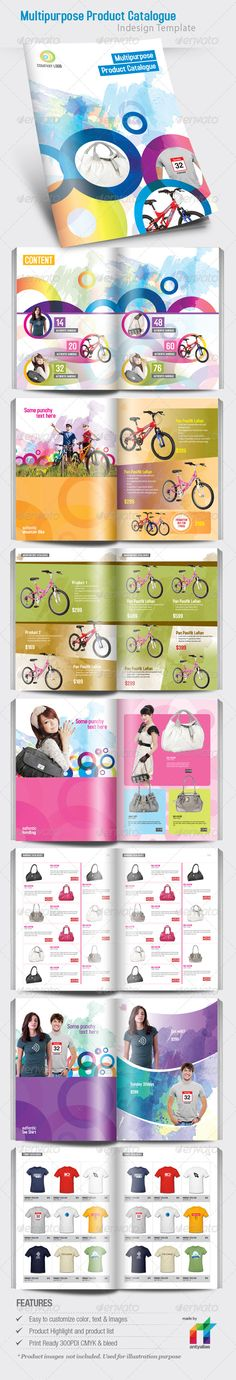 Awesome Product Catalogue Indesign Template  • Only available here ➝ http://graphicriver.net/item/multipurpose-product-catalogue-indesign-template/160367?ref=pxcr