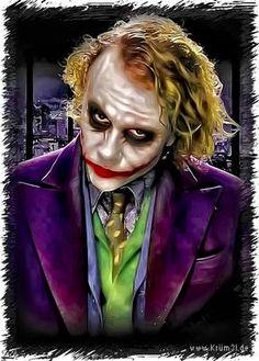 Joker 2 - Heath Ledger by kruemel-sangerhausen on DeviantArt Joker Batman, Joker Heath, Joker Art, Heath Ledger Joker Pics, Gotham Batman, Batman Art, Batman Robin, Batman Joker Wallpaper, Joker Iphone Wallpaper