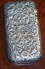Victorian Antique Sterling Silver Match Safe Vesta Case