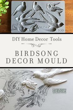 Adding vintage three-dimensional details to your painted furniture and home decor projects has never been easier! Check out the latest release of Decor Moulds from Iron Orchid Designs and learn how you can use their DIY decor products in all your hom Diy Home Decor Projects, Diy Home Crafts, Craft Projects, Wood Crafts, Handmade Home Decor, Vintage Home Decor, Vintage Crafts, Handmade Gifts, Iron Orchid Designs