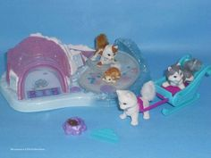 LPS Vintage Littlest Pet Shop 1995 Sparkling Twinkling Sledding Party Complete | eBay
