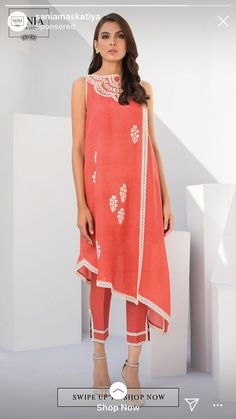 Pakistani Outfits, Embroidered Flowers, Salwar Kameez, Dress Patterns, Indian, Embroidery, Summer Dresses, Suits, Lace