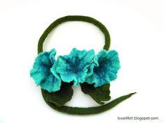 love4felt: Colier cu flori impaslite