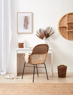 Home Interior Bohemian .Home Interior Bohemian White Desk Office, White Desks, White Desk Bedroom, White Desk Living Room, White Desk Decor, Small White Desk, Office Chairs, Home Decor Styles, Cheap Home Decor