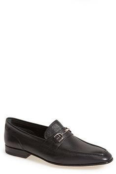 $595, Bally Brian Leather Bit Loafer. Sold by Nordstrom. Click for more info: https://lookastic.com/men/shop_items/258363/redirect