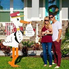FSU Colors Stork Sign Rental ~ Florida Gators Colors Stork Yard Sign ~ Tampa Bay Stork Company ~ Tampa, FL ~ Florida Babies