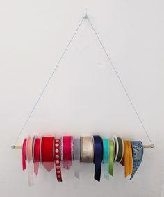 kinda pretty great: diy ribbon hanger