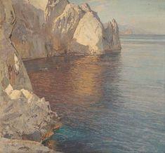 Carlo Perindani - Artist, Fine Art Prices, Auction Records for Carlo Perindani Artist Biography, Landscape Paintings, Landscapes, Sea Art, Art Database, Global Art, Art Auction, Artist At Work, Art Images