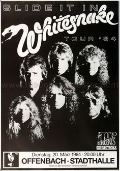Whitesnake Concert Poster https://www.facebook.com/FromTheWaybackMachine