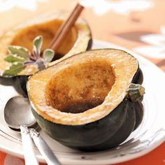 Maple-Glazed Acorn Squash Recipe from Taste of Home