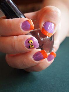 Figment Disney Nail Art!